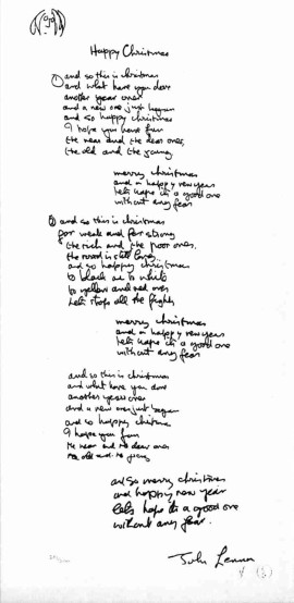 The Art Of John Lennon Hand Written Lyric Editions